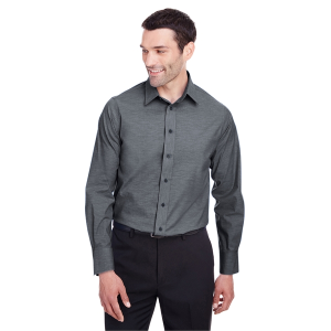 Devon & Jones Men's Crown Collection™ Stretch Pinpoint Chambray Shirt